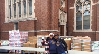 MacCormac College Students Volunteer Their Time At St. Columbanus Food Drive